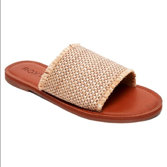 Roxy Crochet & Leather Slides